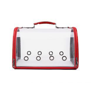 PAW COUTURE Gyvūnų pernešimo krepšys, 43x24.5x28 cm,  raudonas
