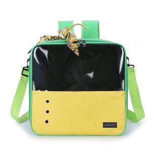 PAW COUTURE Gyvūnų pernešimo krepšys, 36x18x35 cm,  geltonas