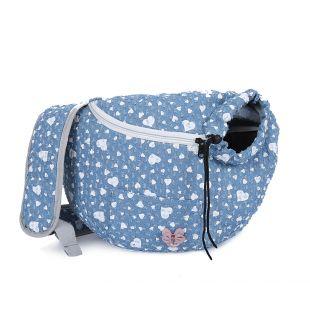 PAW COUTURE Gyvūnų pernešimo krepšys, 36x18x23 cm,  šviesiai mėlynas