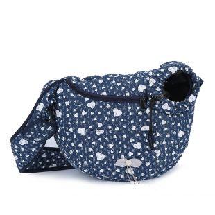 PAW COUTURE Gyvūnų pernešimo krepšys, 36x18x23 cm,  tamsiai mėlynas
