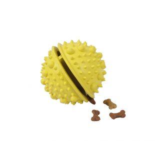 MISOKO&CO Šunų žaislas guminis, geltonas, 8 cm