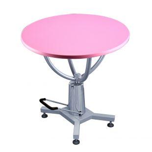 SHERNBAO Apvalus hidraulinis stalas, rožinis
