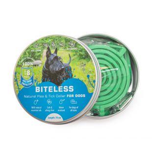 BITELESS Šunų antiparazitinis antkaklis silikoninis, 70 cm