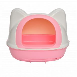 AOTONG Kačių tualetas 58.5x42.5x48.5 cm, rožinis