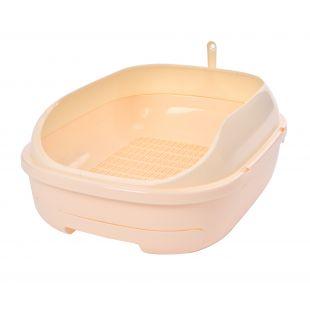 AOTONG Katės tualetas atviras, 51x40.5x20.5 cm, smėlio sp.
