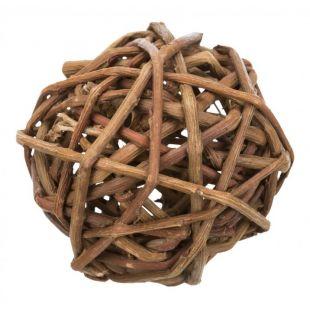 TRIXIE Graužikų žaislas kamuolys, pintas, 10 cm