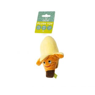 HIPPIE PET Šunų žaislas, Bananas, geltonas, 12x6x6 cm