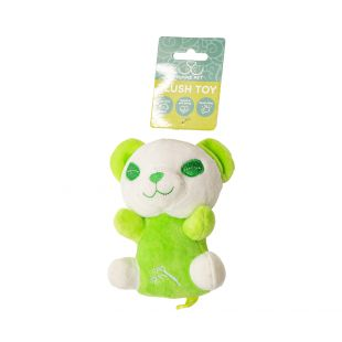 HIPPIE PET Šunų žaislas, Panda, žalia, 13.5x9 cm