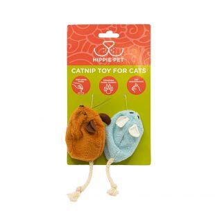 HIPPIE PET Kačių žaislas su katžole, mėlynas ir oranžinis, 2 vnt