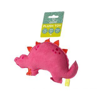 HIPPIE PET Šunų žaislas, Dinozauras, raudonas, 19x12x3 cm