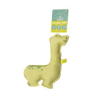 HIPPIE PET Šunų žaislas, Dinozauras, žalias, 14x20x3 cm