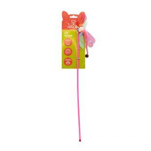 HIPPIE PET Kačių žaislas meškerė, Laumžirgis, rožinis, 45 cm