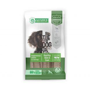 NATURE'S PROTECTION Poultry Healthy Skin & Coat pašaro papildas-skanėstas suaugusiems šunims 160 g, su paukštiena