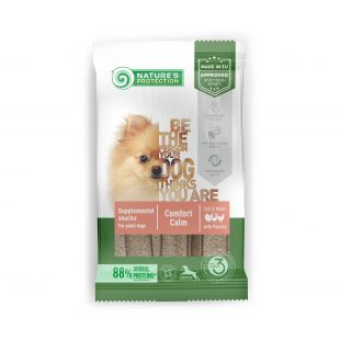 NATURE'S PROTECTION Poultry Comfort Calm pašaro papildas-skanėstas suaugusiems šunims 160 g, su paukštiena