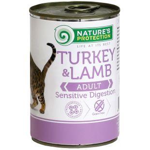 NATURE'S PROTECTION Cat Sensible Digestion Turkey&Lamb Konservuotas pašaras 400 g x 4