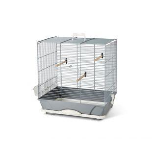 SAVIC Primo 40 paukščių narvas sidabrinis, 46 x 31,5 x 48 cm