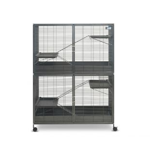 SAVIC Suite Royale XL graužikų narvas antracito pilkas, 115 x 67,5 x 152,5  cm,