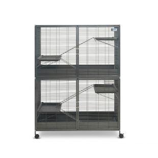 SAVIC Suite Royale XL mažų graužikų narvas antracito pilkas, 115 x 67,5 x 152,5  cm,