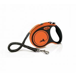FLEXI Xtreme juostelinis šunų pavadis M, max 35 kg, 5 m, oranžinis