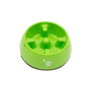 KIKA Šunų lėto valgymo dubenėlis melamininis, žalias, M