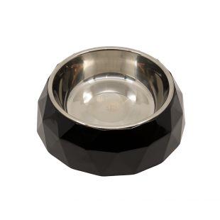 KIKA DIAMOND Gyvūnų dubenėlis juodas, XL