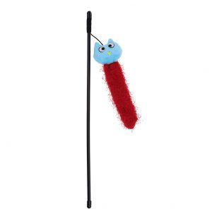 HIPPIE PET Kačių žaislas meškerė su pelėda, žydra, 47 cm