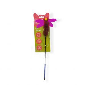 HIPPIE PET Kačių žaislas meškerė, Bitė, rožinė, 43 cm