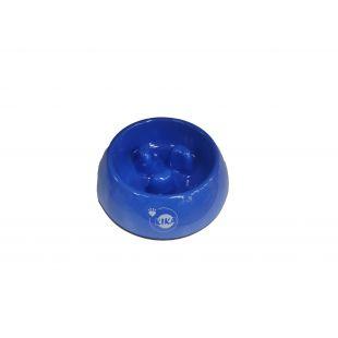 KIKA Šunų lėto valgymo dubenėlis melamininis, mėlynas, L