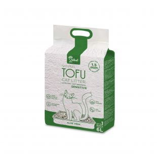 VELVET PAW TOFU kraikas jautrioms katėms, su alijošiaus ekstraktu,1,5 mm granulės x 3