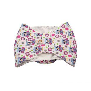 MISOKO&CO patinų daugkartinės sauskelnės XL, pelėdos