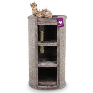 PETREBELS Kačių draskyklė 49x49x98 cm, ruda