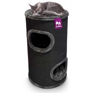 PETREBELS Kačių draskyklė 45x45x80 cm, juoda