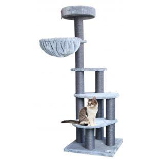 PETREBELS Kačių draskyklė 60x60x169 cm, pilka