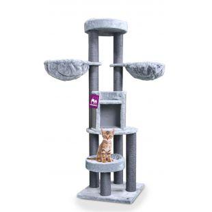 PETREBELS Kačių draskyklė 60x60x186 cm, pilka