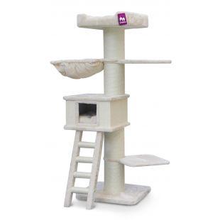 PETREBELS Kačių draskyklė 60x60x180 cm, kreminė