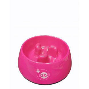KIKA Šunų lėto valgymo dubenėlis melamininis, rožinis, M