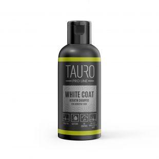 TAURO PRO LINE White Coat Keratin Shampoo, šampūnas šunims ir katėms 50 ml