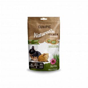 CUNIPIC Naturaliss snack inmunity graužikų užkandis su žolelėmis, 50 g