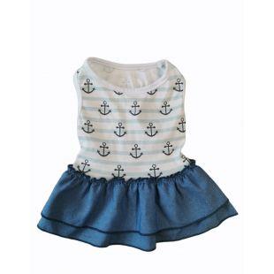 PAW COUTURE Šunų suknelė mėlyna, S