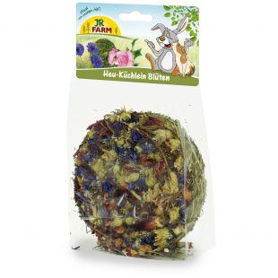 JR FARM Hay-Cake Flowers graužikų skanėstas 75 g