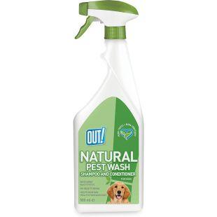 OUT! Šunų purškiamas šampūnas ir kondicionierius nuo parazitų, nenuplaunamas, 500 ml