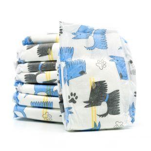 MISOKO&CO šunų patinų vienkartinės sauskelnės su šuniukais, drėgmės indikatoriumi, citrinų kvapo, L dydis, 12 vnt.