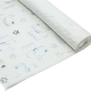 MISOKO&CO šunų vienkartinė pala su šuniukais ir pėdutėmis, citrinų kvapo, 45 x 60 cm, 1 vnt. x 50