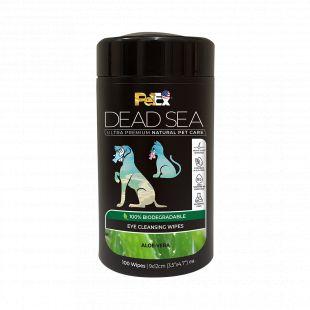 PETEX DEAD SEA Eye Cleansing Wipes ALOE-VERA Šunų ir kačių servetėlės akims, 100 vnt. 100 vnt.