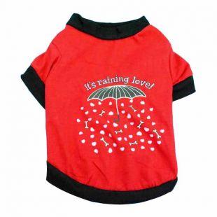 PAW COUTURE Šunų marškinėliai S, raudona
