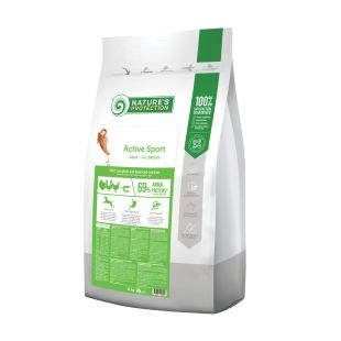 NATURE'S PROTECTION Active Sport All breeds Adult Poultry with krill Sausas pašaras šunims 12 kg x 2