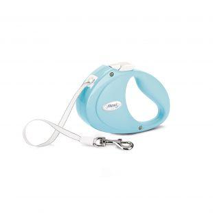 FLEXI Puppy šunų pavadėlis max 12 kg, 2 m, juostelinis, šviesiai mėlynas