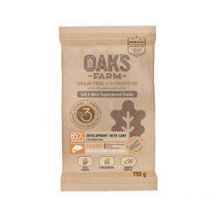OAK'S FARM Development with Care pašaro papildas-skanėstas su lašiša jauniems šunims 110 g, su lašiša