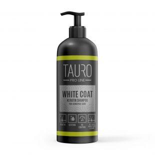 TAURO PRO LINE White coat KERATIN SHAMPOO Šampūnas šunims ir katėms 1 l