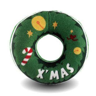 HIPPIE PET Kalėdinis šunų žaislas, pliušinis žalias, 12x12x3 cm